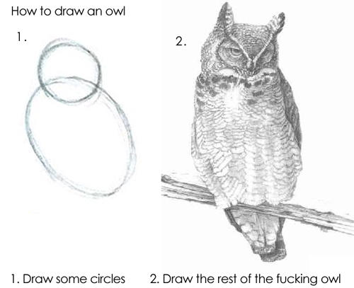 Draw The Rest Of The F Cking Owl Meaning Amidst Measurement